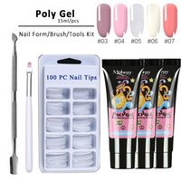 15ml Poly Nail Gel UV Kit Poly Gel Nail Livraison ongles Conseils construction rapide Gel Polish Varnish Set Long Lasting Extension
