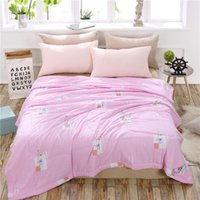 DeMissir Cartton Bear Children Wash Cotton Summer Cool Quilt...