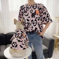 Собака родитель-ребенок, сопоставление наряд семейные одежды леопардовый летом маленький средний домашний кот одежды капюшон рубашка пижама женщин мужчины рубашка T200710