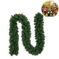 Décorations de Noël Couronne de guirlande artificielle 2.7m Vert Noël Accueil Décor Party Decor Suspendre Ornement pour Garden Dropship1
