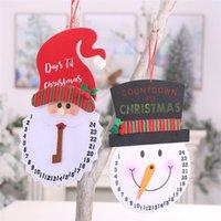 Nuovo decorazioni di Natale non cartone animato pupazzo di neve sveglia tessuta orologio creativo orologio da parete a pendolo T3I51359 anziani