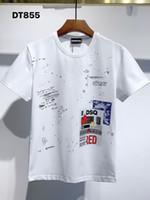 DSQ Phantom Tortue 2021ss New Mens Designer T-shirt Paris Mode T-shirts Été DSQ T-shirt T-shirt Homme Top Qualité 100% coton Top 1184