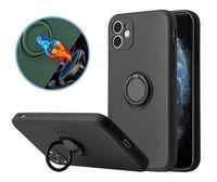 Flüssiges Silikon Weiche TPU 360 Rotation Kickstand Ringhalter Fall für iPhone iPhone 12 Mini 11 Pro Max XS XR 7 8 Plus
