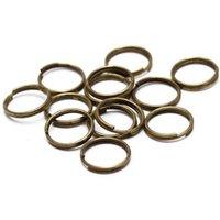 200 unids / lote 5 6 7 8 10 12 12 mm Llavero llavero abierto Anillos de salto Double LOOPS Dorado Color Split Rings Connec JLLDGX
