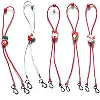 Bambini maschera Hanging Neck corda Natale gelato cordino Babbo Natale Lunghezza registrabile di estensione Corde del fumetto 1 4bd F2