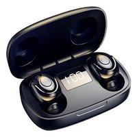 S9 TWS Earbuds Fones de ouvido Sem Fio Bluetooth 5.0 À Prova D 'Água Sports Estéreo Headphones com LED Display Digital e Caixa de Carregamento