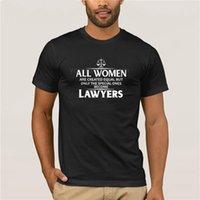 T-shirt da uomo Casual Casual 100% cotone T-shirt popolare Tutti gli uomini sono uguali solo quelli speciali diventano camicia di avvocati
