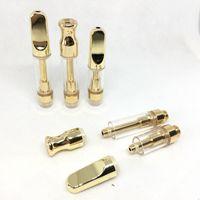 Золотые картриджи из дерева керамические распылители TH210th105 Картридж Pyrex Стеклянный испаритель керамический капельный наконечник M6T атомаризатор резервуар для 510 резьбовой батареи