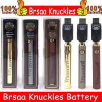 Brass Shuckles Preheat Batteria 900mAh VAPOR PEN PEN PENNA REGOLATA BATTERIA BATTERIA BATTERIA 510 Cartuccia filettatura in oro BK BK
