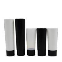 Sebastian şişeleri Siyah / beyaz / çevirme üst doğal renk / Disk En Caps şişe 7 oz 30pcs / pack LDPE sıkmak kozmetik tüp 200ml