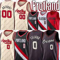 0 Damian Portlands Lillard Jersey Carmelo 00 Anthony Jerseys Орегон трикотажные изделия CJ 3 Макколлум Джетки 2021Portland Trail Blazers