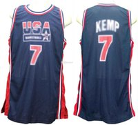 1994 Equipe Olímpica Dream EUA Shawn Kemp Retro Basquete Jersey Mens Costume Personalizado Qualquer Número Nome Jerseys