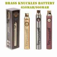 Messing-Knöchel Batterie 650mAh 900mAh variable Spannung Vorheiz E-Zigarette Batterie Stift für 510 Thraed dicke Ölkassette Vape Batterie DHL