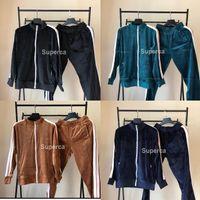 Adam Tasarımcılar Giysileri 2020 Kadife Erkek Eşofman Erkek Kadın Ceket Hoodie ile Pantolon Erkekler S Giyim Spor Hoodies Eşofman Euro Boyutu S-XL