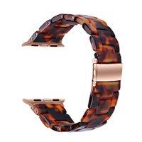 Apple Regarder la bande de résine 40mm / 38mm 44mm / 42mm, bracelets de remplacement élégants pour iWatch Series 6 / 5/4 / 3/2 / 1 / SE Femmes hommes