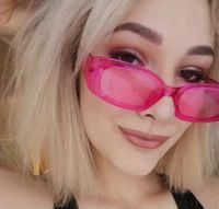 Yaz Kadın UV400 Şeker Renk Güneş Gözlükleri Moda Erkekler Temizle Renkli Güneş Gözlüğü Küçük Çerçeve Unisex Gözlük Bisiklet Gözlük Ücretsiz Kargo