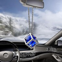 Auto Anhänger Cube Diamant Dekoration Suspension Ornamente Rückansicht Spiegel Hängende Trim Automobile Interior Danles Decor Gifts1