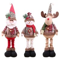 Christmas Decorations Santa Claus Old Man Snow Man Elk Ornam...