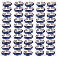 컬러 로트 빈티지 혼합 50factory 변경 가능한 기분 도매 반지 크기 6-10
