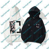 Moda Hip Hop Daisy Print Mens Hoodies X Impreso Hoodie Unisex Mujeres Casual Harajuku Pullovers Streetwear Plus Cashmere
