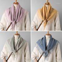 الأوشحة 2021 الشريط الفاخرة الكشمير وشاح المرأة الشتاء الدافئة شالات وتفاغط تصميم طباعة bufanda سميكة بطانية hijab1