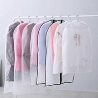 Tür 10 stücke Hängende Kleidung Kleidungsstück Tasche Transluzente Anzug Mantel Kleidung Staubabdeckung Aufbewahrungstasche Hängende Aufbewahrungstaschen1