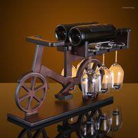 Креативное велосипедное дерево винодельческая стойка европейская мода бар вина стеклянный стеклянный держатель1