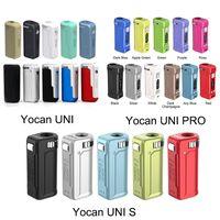 Новейшие 11 цветов yocan Uni Pro S FOX MOD 650mAh Предварительно нагрейте VV Vape Battery для всех 510 поток тележек картридж