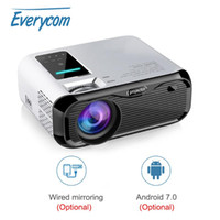 Everycom E500 Mini Projector LED HDMI 720P LCD Android 7. 0 W...