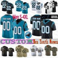 """캐롤라이나 """"Panthers""""8 Jaycee Horn 14 Sam Darnold Football Jerseys Jersey 맞춤형 남성 여성 키즈 데릭 브라운 크리스챤 McCaffrey Robby Anderson Moore"""