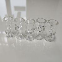 Dicas de filtro de vidro de 1 polegada para papéis de rolamento de tabaco de erva seca com suporte de cigarro 2mmthick pyrex vidro 12mm od personalizar logotipo