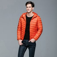Дак пальто Мужчины Канада Winter Youth Ultra Thin Пуховики Мужская одежда Puffer Jacket пальто плюс размер B-9599