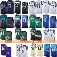Giannis Luka 34 Antetokounmpo 77 Doncic Basketball Jersey Hommes Jeunesse 6 Krisps Ray Dirk 41 Nowitzki Allen Porzingis Jerseys 2021 Nouveau