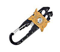 FIXR 야외 스포츠 1 개 다기능 렌치 드라이버 오프너 EDC 생존 키 체인 핸드 툴에 포켓 (20) 휴대용 유틸리티