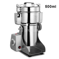 Procesadores de alimentos 500 ml Máquina de amoladora seca eléctrica de acero inoxidable Especias de cereal Crusher Coffee Bean Mill Moler RS-FS1401