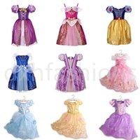 무료 DHL 9 스타일 소녀 공주 레이스 드레스 새로운 아이 패션 코스프레 Bowknot Bows 드레스 아기 핑크 퍼플 블루 드레스 스커트 파티 드레스