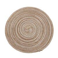 Isolamento ramie anti-slip placemat fatto a mano tessuto multi colori circolare tavola tazza tazza tazza vaso ciotola piastra pad 4 3dy l2
