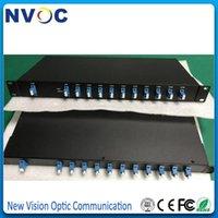 Frete Grátis 8 Canal 1U Rack Mount Single Fiber CWDM MUX / Demux com conector LC Brotars Comprimento de Waves Multiplexer1