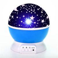 Питомник ночной свет проектор звезда луна неба вращающийся аккумуляторная батарея спальня прикроватная светильник для детей детская спальня младенца 154 к2