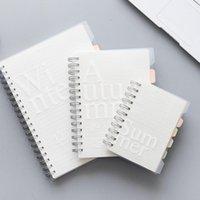120 Sayfalar B5 / A5 / A6 Dizüstü Çift Bobin Gevşek Yaprak Yaprak Memo Pad PP Kapak Cep Kitabı Boş Izgara Yatay Hattı Içinde Sayfa Planlayıcısı1
