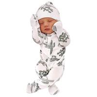 Baby Strampler Mädchen Kaktus Print Hut Jumpsuit Winter Kostüm Neugeborene Babykleidung Onesie Kleinkind Kinder Winter Kleidung 2019 19SEP C1018