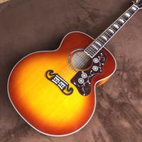 무료 배송 마호가니 핑거 J200 점보 버킷 43 인치 포크 어쿠스틱 기타