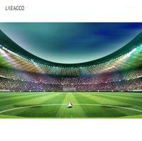 Fondo de fútbol Fútbol Estadio Estadio Get Green Hierba Spotlight Baby Cumpleaños Fondos Fondos Fondos Photocall Photo Studio1