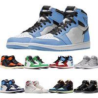Université Blue Jumpman Mocha Tokyo Sans Créence Sans Crédit Black Chicago sans peur Unc NeukakkinJordanFormateur de chaussures de basket-ball rétros 1 1S