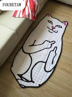 Quaretaw 1 peça criativo animal bonito tigre gato sala de estar quarto tapete tapete anit-slip home piquenique de algodão carpete1