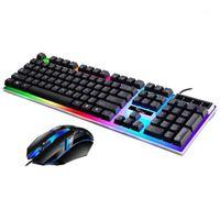 Keyboard-Mauskombinationen verdrahtet und eingestellt USB-beleuchtetem Manipulator-Kit Computerzubehör1