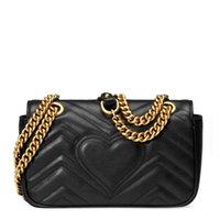 Marmont Bags Designers Wavey 2020 Женская Любовь Оптом Сумки XPLW Lady Bag Подлинная Люквины продали горячие дизайнеры Кожаное плечо Han Cros Adtt