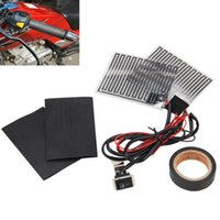 ATV 12V universale del motociclo elettrico Riscaldamento maniglia Kit riscaldati Pad Grip + calore nastro resistente + termoresistente Coprimanubrio Pad