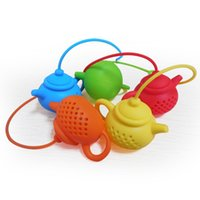 Silicone Tea Infuser Teapot Shape Reusable Tea Filter Diffus...