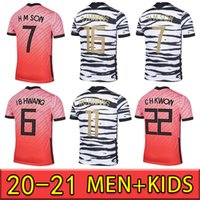 Mens Futebol Jerseys National Equipe U J Hwang I B Hwang C H Kwon H C Hwang H M Filho Home Away Futebol Camisa De Manga Curta Manga Uniformes